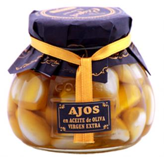 Ajos en aceite de oliva virgen Gourmet