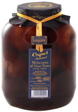 Melocotón Entero en Vino Gourmet